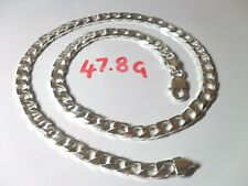 Very Nice Mens or Ladies Curb Chain Solid 925 Sterling Silver  Length 20.1/4""