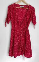 AUGUSTE floral Daphne Wrap Dress Size 8