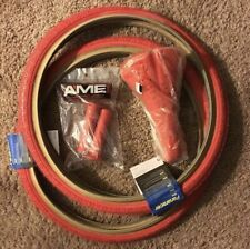 Red Panaracer Tires 20�, Dominator Viscount Seat, Ame Grips. Bmx All Brand New