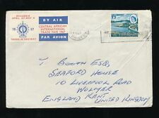 RHODESIA AIRMAIL CENTRAL AFRICAN TRADE FAIR ETIQUETTE + 1/3 1967