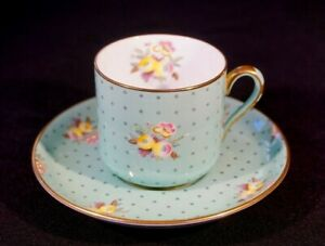 Beautiful Spode Concord Green Demitasse And Saucer