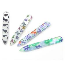 Pro 4Pcs Durable Crystal Glass File Buffer Nail Art Files Manicure Device Tools