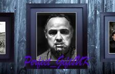 MARLON BRANDO FRAMED & MOUNTED SIGNED 10x8 REPRO PHOTO PRINT