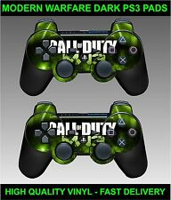 Playstation 3 Controller sticker skins X 2 COD MW3 style Dark