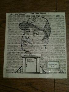 Bill Gallo ORIGINAL Painting Drawing Signed Eddie Mathews Atlanta Braves basebal