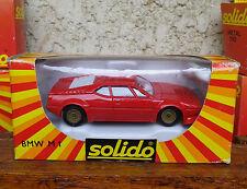 SOLIDO FRANCE BMW M1 rouge de 1987 n° 1355 Neuf + boite