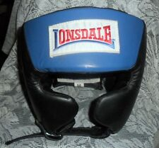NIP Lonsdale Amateur Competition Headgear Head Guard US Boxing Specs Blu Size M