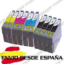 10 CARTUCHOS DE TINTA COMPATIBLE NON OEM PARA EPSON T0711 T0712 T0713 T0714
