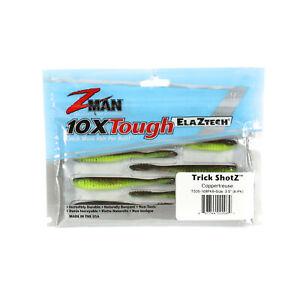 Zman Soft Lure Trick ShotZ 3.5 Inch 6 per pack Coppertreuse (2069)