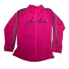 Adidas Pink Full Zip Sweatshirt Girl's sz 6X (G-1C)