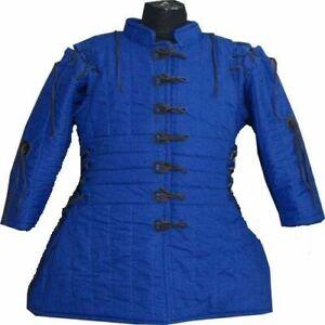 Medieval-Gambeson-thick-padded-coat-Aketon-vest-Jacket-Armor-Halloween-Gift thum