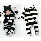 Baby Kids Boys Girls Warm Infant Romper Jumpsuit Bodysuit Cotton Clothes Outfits