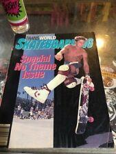 Transworld Skateboarding Magazine December 1986 Rodney Mullen 12/86 Dec AS IS