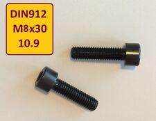 25 Stück Schraube hochfest DIN 912 M8x30 10.9 schwarz