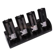 4x 2800mAh Battery Pack+ Charger Dock Station for WII Remote Game Black