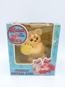 Princess Kneesaa Bank WICKET the Ewok 1983 Adam Joseph Industries vintage w/ Box