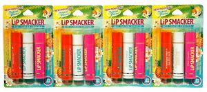 Lip Smacker Balm Tropical Flavors Trio Tangerine/Pina Colada/Coco Cabana 12Count