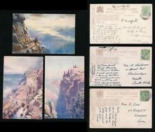 TUCKS OILETTE 7680 BONNIE SCOTLAND BEN NEVIS 3 CARDS POSTALLY USED...WIMBUSH
