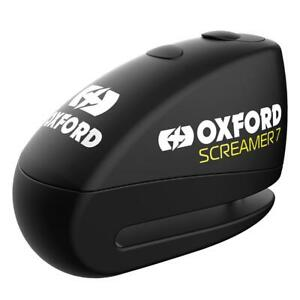Oxford Screamer Motorcycle Disc Lock Alarm 7mm Motorbike Scooter Black New