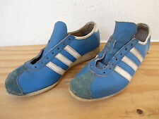 Vtg 60's Mens Adidas Rekord Sneakers Shoes Sz about 8 Blue Leather/White