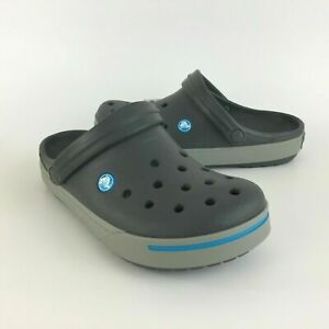 Crocs Crocband II Men's Clog (11989-01W) Grey Blue // MANY SIZES NWT