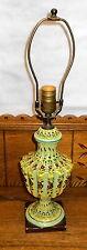 Vintage Italian Art Pottery Table Lamp