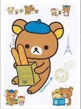 Rilakkuma Bear iPhone Samsung Body Skin Mini Clear Sticker Sheet (2pcs)