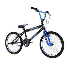 "Zombie Outbreak Boys 20"" Freestyle BMX Bike Bicycle Stunt Pegs Black & Blue"