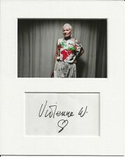More details for vivienne westwood fashion genuine authentic autograph signature and photo aftal