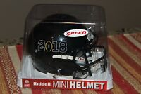 Riddell Mini Speed Helmet Dated 2018 Black No Team NEW NFL Football