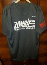 Mens Nike Dri-Fit Zombie Hunters Lacrosse Shirt Sz L