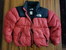 VINTAGE The North Face Nuptse 700 Down Parka Puffer Jacket Men Large Red 90s
