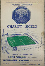 More details for bolton wanderers v wolverhampton wanderers 1958/59 charity shield