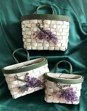 Boyds Collection - Set Of 3 Baskets - Chardonay Grape Harvest Basket