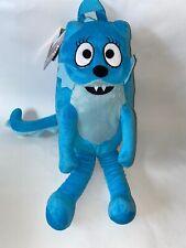 """NWT YO GABBA GABBA 18"""" Stuffed Plush Full Body TOODEE Blue BACKPACK Bag NEW"""