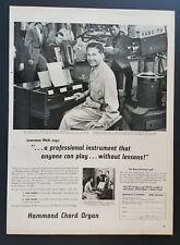 1957 Hammond Chord Organ Lawrence Welk Photo Musical Instrument Vintage Print Ad