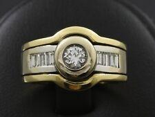 Designer Diamant Ring ca. 0,78ct  12,8g 750/- Gelbgold Weißgold