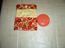 New listing New Vintage Revlon Love Pat Orange Compact with Case. Beauty purse design makeup