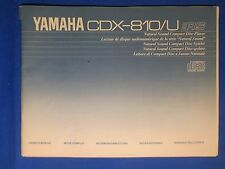 Yamaha CDX-810 U CD Owner Manual Factory Original Issue The Real Thing