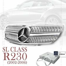MERCEDES BENZ SL CLASS R230 FRONT GRILLE GRILL SL500 SL600 2002-2006 CHORME AMG
