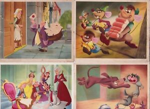 4 1950's Dutch Colgate-Palmolive CINDERELLA Cards Walt Disney