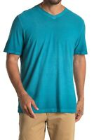 Tommy Bahama Mens Cirrus Coast V-Neck T-Shirt Anchor Blue Sz L