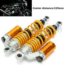 325mm Universal Motorcycle Shocks Struts Vibration Absorber Dampers Adjustable