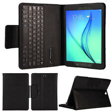 Bluetooth Tastatur + Leder Case Stand Hülle For Samsung Galaxy Tab A 9.7 T550 BK