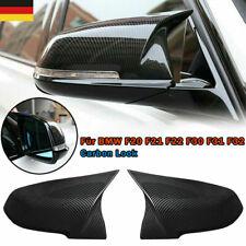 2x Carbon Look Spiegelkappen Gehäuse für BMW F20 F21 F22 F30 F31 F32 F33 F34 X1