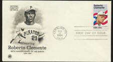 Roberto Clemente Pittsburgh Pirates #2097 PCS Engraved Cachet First Day Cover