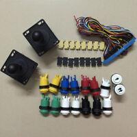 Arcade DIY Parts Kit: 2x Happ Joysticks + 16x Push Buttons + 1x Jamma Loom Cable