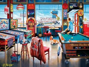 Jigsaw Puzzle Americana Pool Pockets Pub 550 pieces NEW Play Time