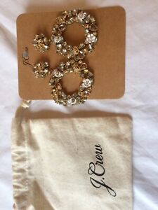 J CREW EARRINGS NEW WITH DISPLAY CARD AND POUCH.