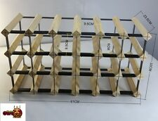 24 BOTTLE WINE RACK-BORDERS ORIGINAL AND THE BEST-FREE  ASSEMBLY & POSTAGE